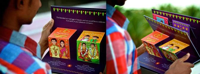 Salah satu bentuk kartu undangan pernikahan unik di India